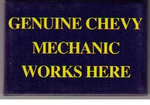 Chevrolet Mechanic kylskåpsmagnet