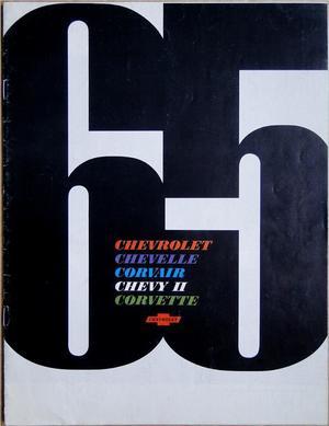 1965 Chevrolet broschyr Chevelle Corvair Chevy II Corvette svensk