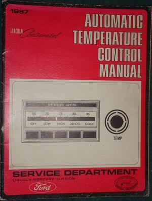 1967 Lincoln Automatic Temperature Control Manual