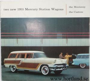 1955 Mercury Station Wagons broschyr