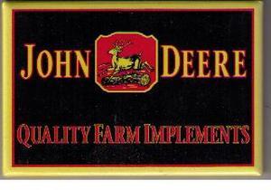 John Deere kylskåpsmagnet