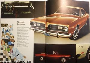 1969 Plymouth Valiant och Barracuda broschyr svensk