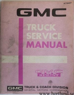 1972 GMC Sprint Service Manual