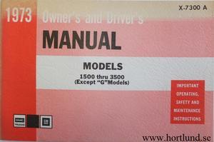 1973 GMC 1500-3500 Truck Owner's Manual 1:st upplagan