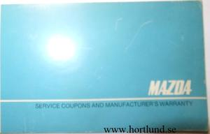 1974 Mazda Service Coupons and Manufacturer's Warranty