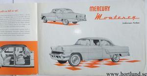 1955 Mercury Monterey svensk broschyr