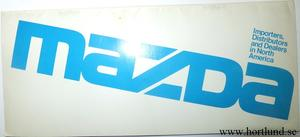1980 Mazda Importers, Distributors and Dealers in North America.