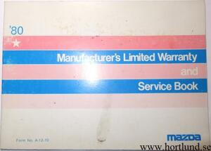 1980 Mazda Service Book