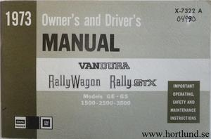1973 GMC Van Owner's Manual 1:st upplagan