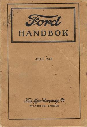 1925 Ford Model T Handbok svensk
