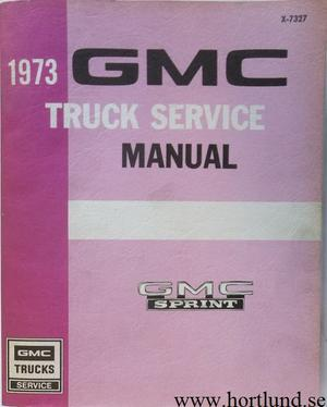 1973 GMC Sprint Service Manual