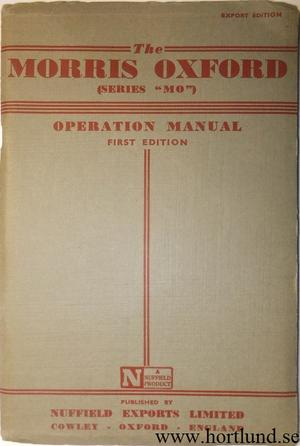 1949 Morris Oxford Operation Manual