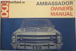 1968 AMC Ambassador Owner's Manual