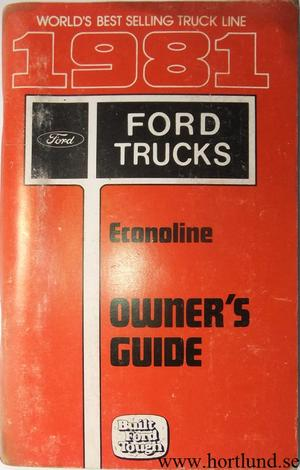 1981 Ford Econoline Van Owners Guide
