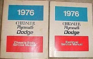 1976 Plymouth & Dodge & Chrysler Service Manual original