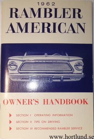 1962 Rambler American Owner's Handbook