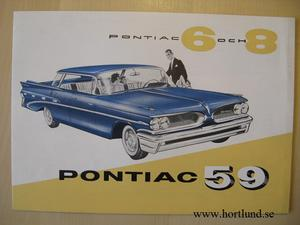 1959 Pontiac broschyr alla modeller svensk