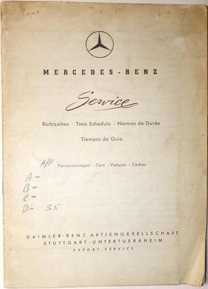 1956 1957 Mercedes-Benz Tidbok 170 180 190 219 220 300 SL