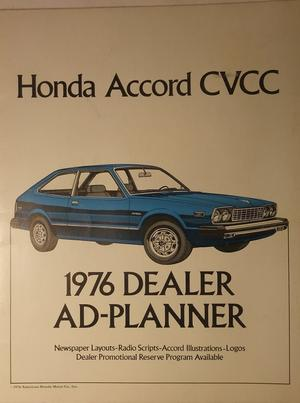 1976 Honda Accord CVCC Dealer Ad-Planner