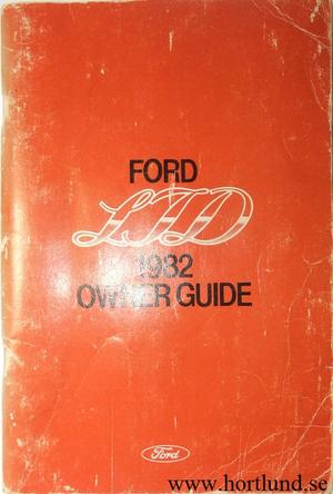 1982 Ford LTD Owners Guide