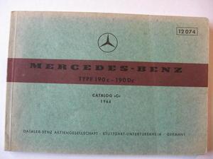 1964 Mercedes-Benz 190 c - 190 Dc Reservdelskatalog