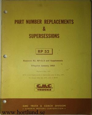 1947 GMC Part Number Replacements & Supersessions