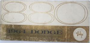 1964 Dodge 880 Instruktionsbok