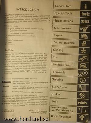 1980 Honda Prelude Service Manual