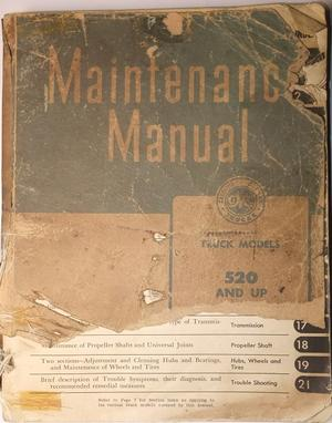 1944 - 1947 GMC 520 and up Truck Maintenance Manual