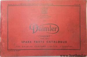 1949-1953 Daimler Consort DB 18 Spare Parts Catalog