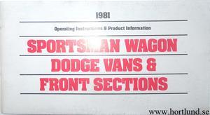 1981 Dodge Van Operating Instructions