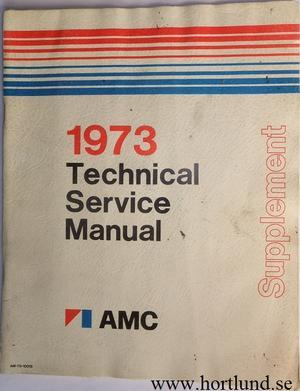1973 AMC Technical Service Manual supplement