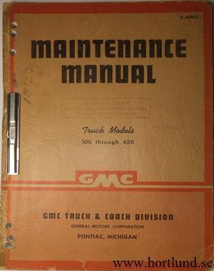 1949 GMC 100-450 Truck Maintenance Manual