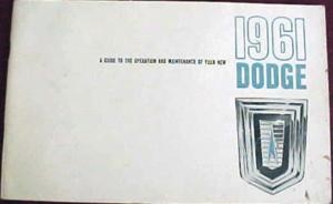 1961 Dodge Dart & Polara Owners Manual