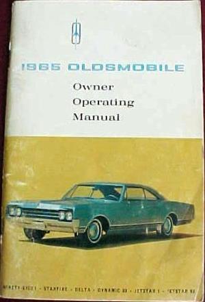 1965 Oldsmobile 98, Starfire och 88  Owner Operating Manual