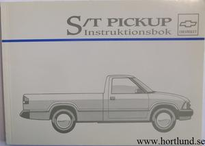 1995 Chevrolet S/T Pickup Instruktionsbok svensk
