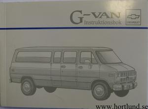 1995 Chevrolet G-Van Instruktionsbok svensk