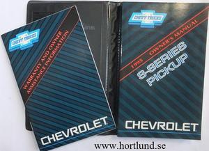 1995 Chevrolet S Pickup Owner's Manual