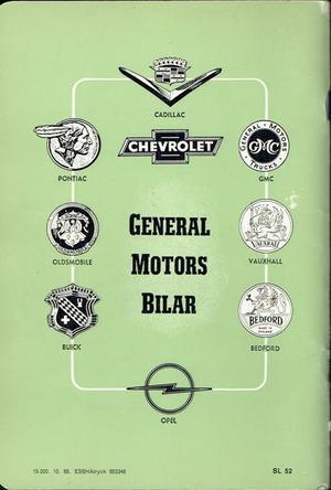 1966 GM Skötsel och Körning av Eder GM Bil typ 1