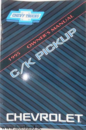1995 Chevrolet C/K Pickup Owner's Manual