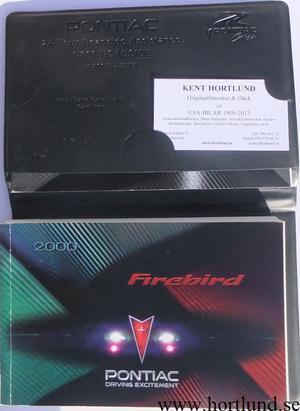 2000 Pontiac Firebird Owners Manual