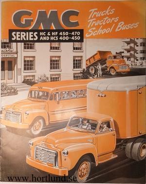1950 GMC HC & HF 450-470 and HCS 400-450 Truck Broschyr