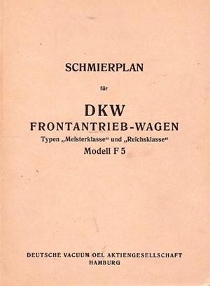 1935-1937 DKW F5 smörjinstruktioner