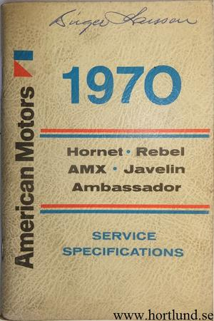 1970 AMC Service Specifications