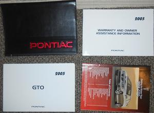 2005 Pontiac GTO Owners Manual