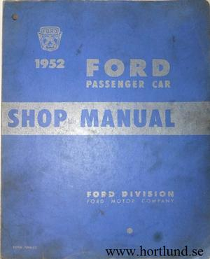 1952 Ford car Shop Manual