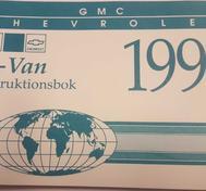 1991 Chevrolet & GMC G-Van Instruktionsbok svensk