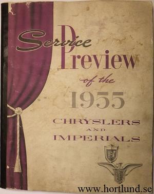 1955 Chrysler och Imperial Service Preview