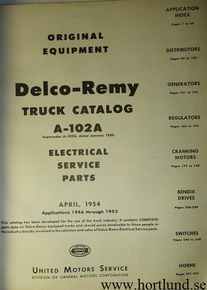 1946 - 1953 Delco-Remy Electrical Service Parts