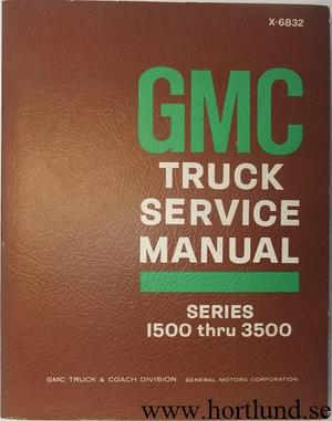 1968 GMC series 1500-3500 Truck Service Manual